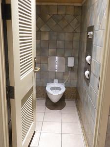United Premier Club fancy bathroom stalls