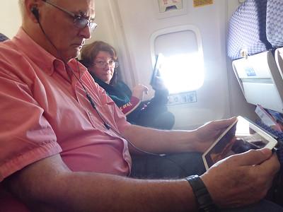 Paul and Linda in flight