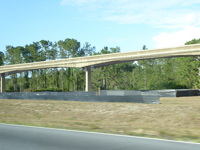 Monorail tracks and ubiquitous construction