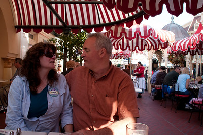Linda and Paul at Carnation Cafe on Main Street.