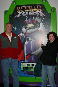 Buzz Lightyear Astro Blasters ride line. You zap the Zs throughout the ride and gain points.
