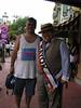 Ian rubbing elbows with politicians - the Major of Main Street USA - Magic Kingdom
