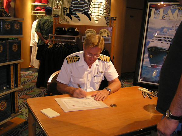 Captain signing