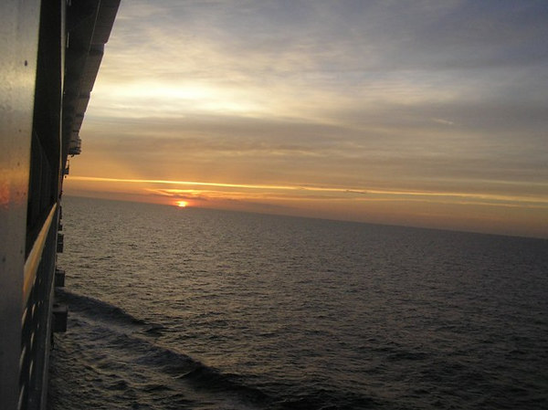 Sunset on our last night on board the Magic