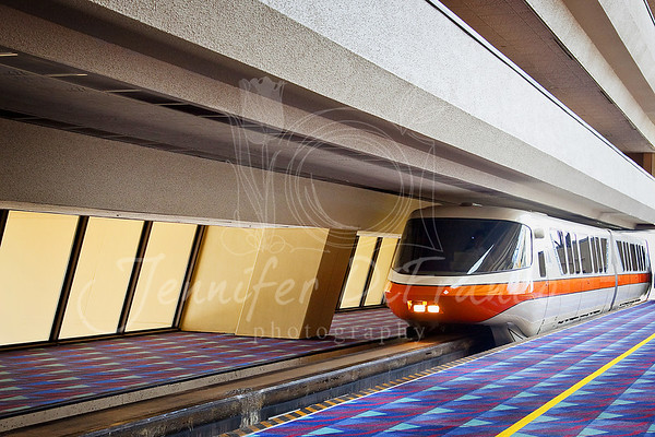 The monorail in the Contemporary.  So nice to have it right there.