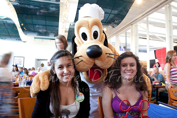 Chef Mickeys at the Contemporary.  A family tradition - dinner on our first night at WDW.