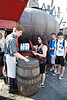 Kylie buying her first butterbeer.