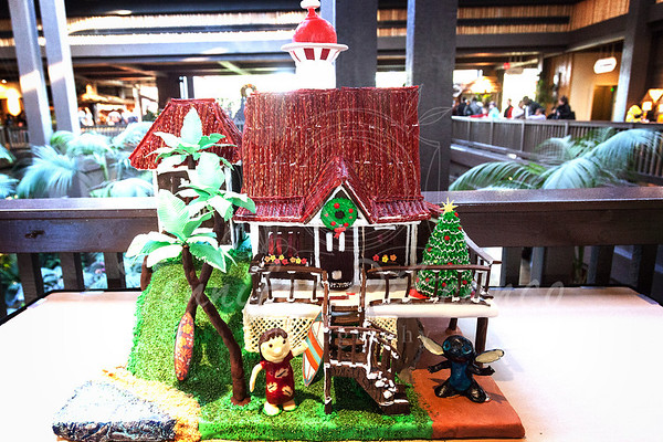 Gingerbread house at the Polynesian