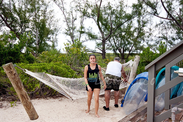 """The hammock Ian and Emily """"fought"""" over."""