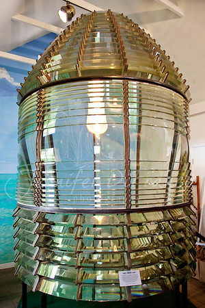 One of the lamps from the lighthouse.