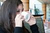 Kylie enjoying her Palo coffee