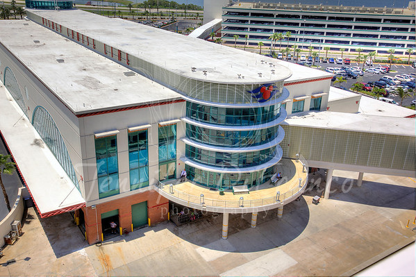 The Disney terminal at Port Canaveral as seen from the ship.