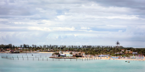 Castaway Cay (Disney's private island) from our verandah......  our last day on the Magic.