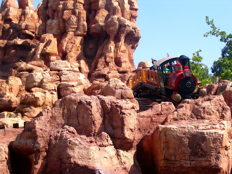 """Big Thunder Mountain"" roller coaster... another great Disneyland ride!!"