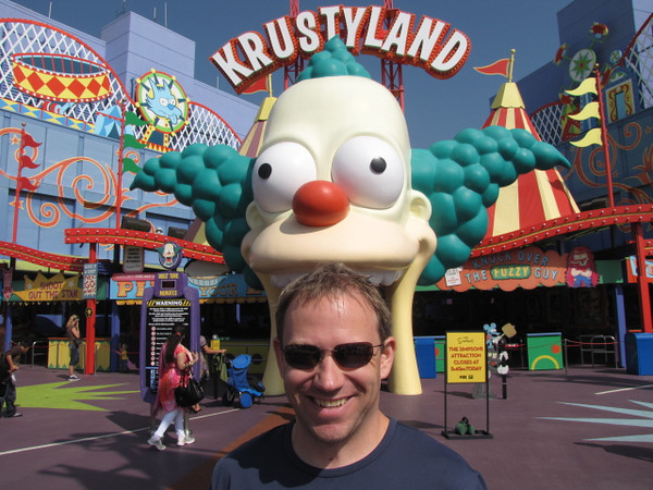 "The ""Simpsons"" ride through ""Krustyland"" was as you'd expect... fun & crazy!! :-)"