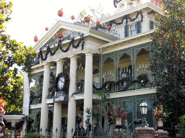 """There's the """"Haunted Mansion"""", one of our favorite Disney rides... even better when they have it done up for Halloween though! :-)"""