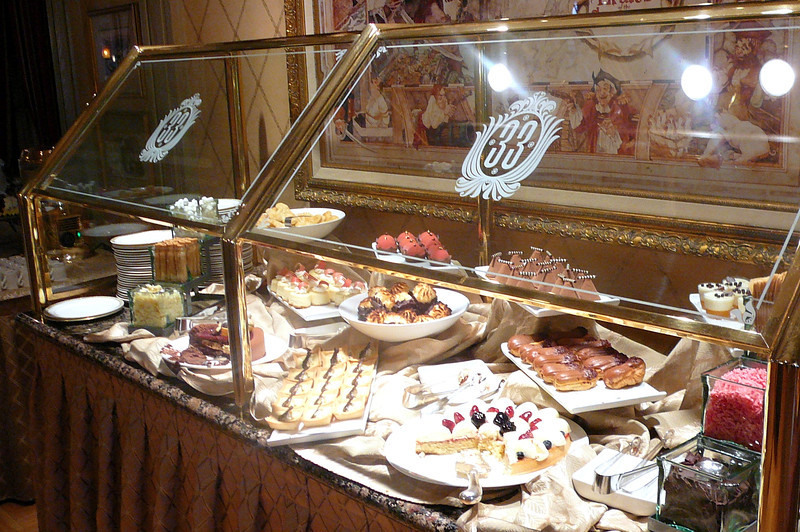 "The lunch at ""Club 33"" was pretty spectacular but the desserts, even better!! :-)"