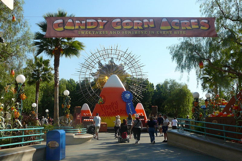 Since we visited California Adventure just before Halloween they had it all done up for the occasion. And what would Halloween be without Candy Corn!! :-)