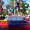 "There's the Disney Cast showing off their dancing & aerial skills during the ""Block Party"" at California Adventure.<br /> <br /> Well, it was a quick 2 times but we had another great visit to Disneyland... can't wait to get back here again soon! :-)"