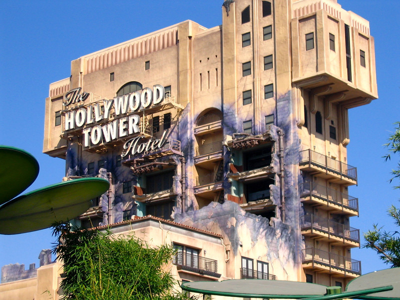 "There's the ""Tower of Terror"" in California Adventure... Nancy prides herself every time she's able to get Shawn to go ride it. :-)"