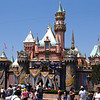 "There's Disneyland's Castle decorated for the ""Fiftieth year"" Celebrations... very nice!"