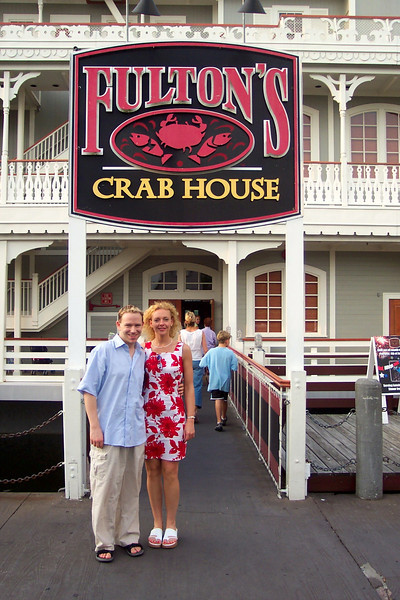 "We headed right from the plane to ""Downtown Disney"" to enjoy some shopping, dining & entertainment before we hit the parks the next day.  If you're looking for a great meal, anytime you're in Downtown Disney make sure to stop by ""Fulton's Crab House""... yum, yum!! :-)"
