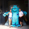"For day 3 we enjoyed Disney's ""Hollywood Studios"" Park... another fun day of rides, shows & character greetings!  There we are saying Hi to ""Sulley"". :-)"