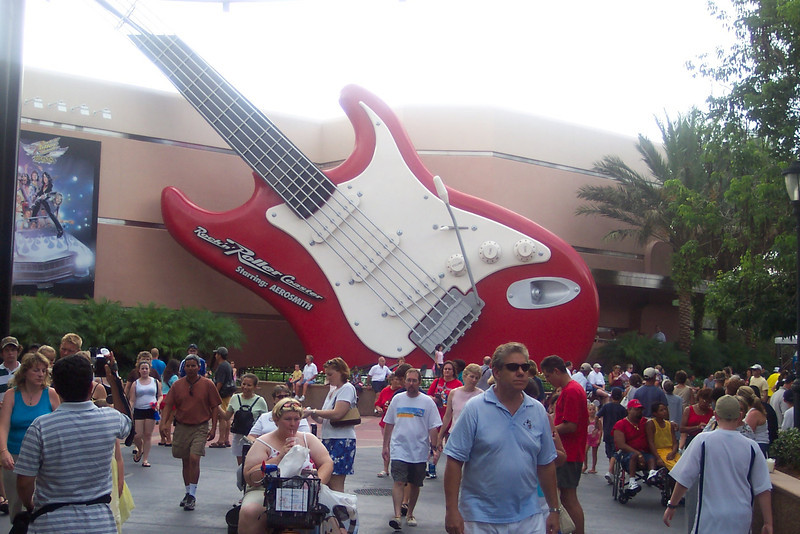"There's ""Aerosmith's Rocking Roller Coaster""... definitely one of the fastest, and funnest, rides at Disneyworld!!"