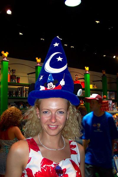 Looks like Nancy was having fun shopping in Downtown Disney. :-)