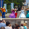 "For our 1st day at the parks we headed to ""Magic Kingdom""... Mickey & his friends put on a little show for us at ""Cinderella's Castle""... it was great! :-)"