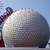 "There's the entrance to Walt Disney World's ""Epcot"" Theme Park... very cool!!"