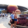 "There we are trying to get the nerve up to go into the ""Mission Space"" ride in Epcot. Make sure you don't have a weak stomach before going on this one. :-)"