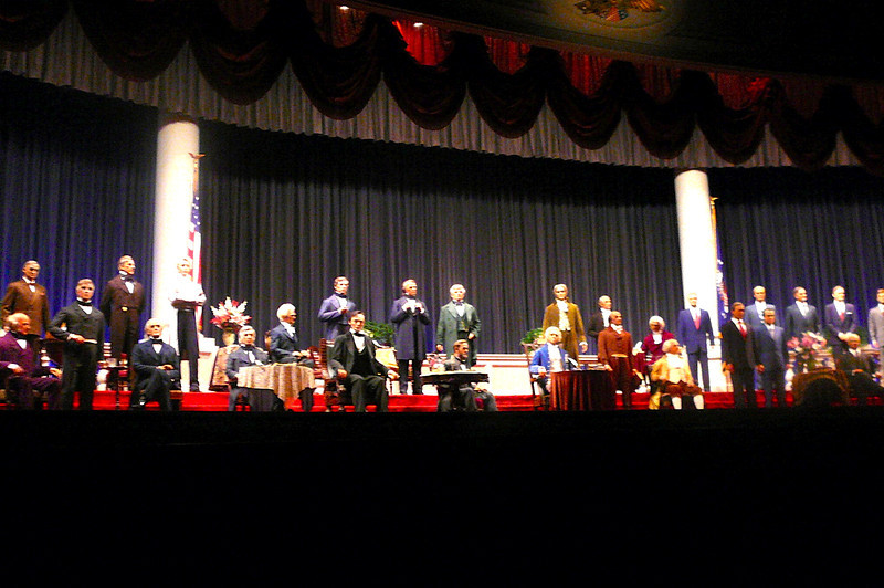 """There's a glimpse inside Disney's """"Hall of Presidents""""."""