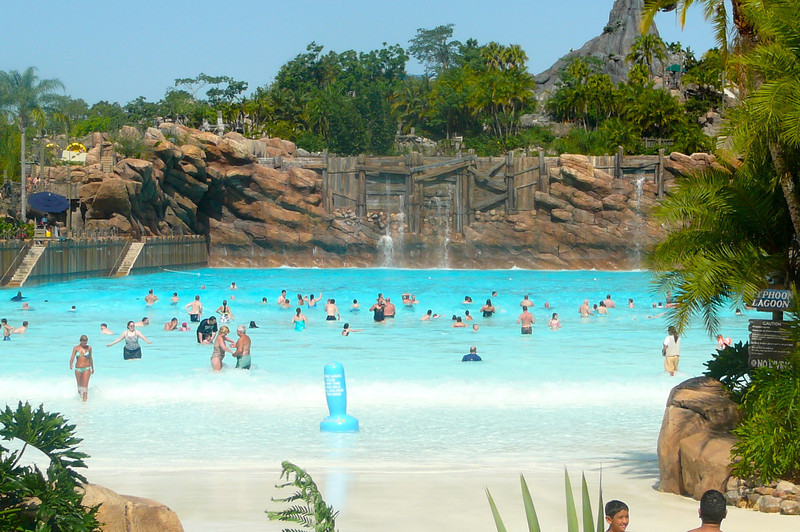 "After a couple of great days at the parks we decided to relax for a morning and ""cool off"" at one of Disney's water-parks.  There's the humongous wave pool at ""Typhoon Lagoon""... what a great place to enjoy part of your Walt Disney Wold Vacation!!"