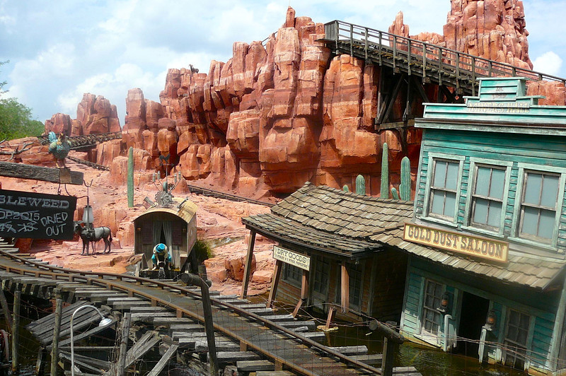 "Here's one of our Favorite Roller Coaster rides, ""Big Thunder Mountain Railroad""!!"
