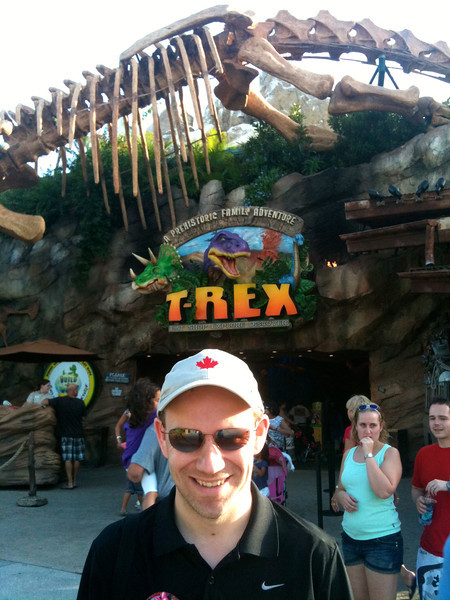 """Just about everytime we visit Disneyworld in Florida or Disneyland in California we eat at the """"Rainforest Cafe""""... well, in Downtown Disney in Florida they now have their sister restaurant open, """"T-Rex"""". Just as much fun as the """"Rainforest"""", check it out next time you're there! :-)"""