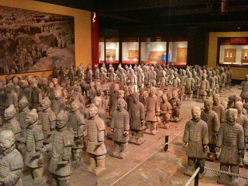 "Even though we had just saw the real ""Terra Cotta Warriors"" in Xi'an, China in 2009, we had to make a stop in China in Epcot to check them out again! :-)"