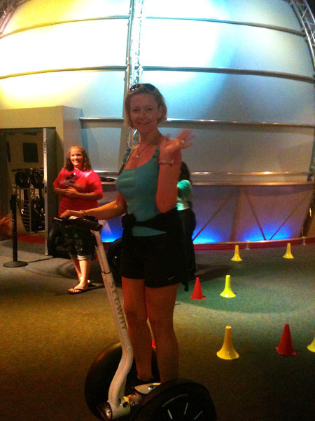 """Looks like Nancy had a little fun riding a """"Segway"""" at Innoventions while in Epcot. :-)"""