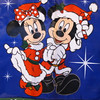 Mickey & Minnie are always cute together but even more so with their Christmas outfits on! :-)