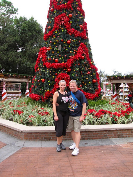 The size of the Christmas trees at Disneyworld are pretty crazy... 4-5+ times our size!