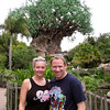 "Today we enjoyed the rides and shows at Disney's ""Animal Kingdom"" park... there's the centerpiece of the park behind us... the ""Tree of Life""... at 14-stories high (145-feet tall) and 50-feet wide it's definitely the biggest tree we've ever seen. :-) When at the park make sure to walk around the tree to see some of the 325 animals that are carved into it... very cool! :-)"