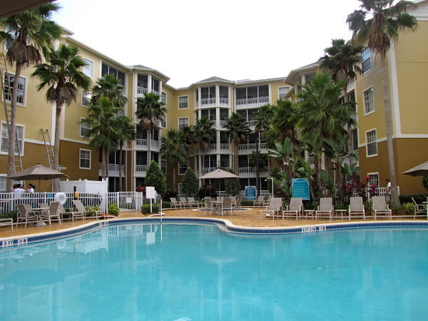 """There's one of the 2 pools at the """"Wyndham Cypress Palms"""" Resort where we called """"Home"""" for the week while visiting Walt Disney World in Florida."""