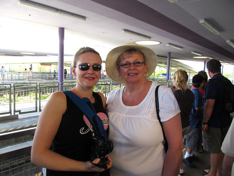 "Nancy's looking pretty Happy to be enjoying some ""Mom & Daughter at Disney"" time!"