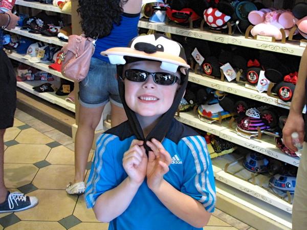 "There's Nancy's nephew ""Johnnie"" looking cute in his ""Goofy"" hat. :-)"