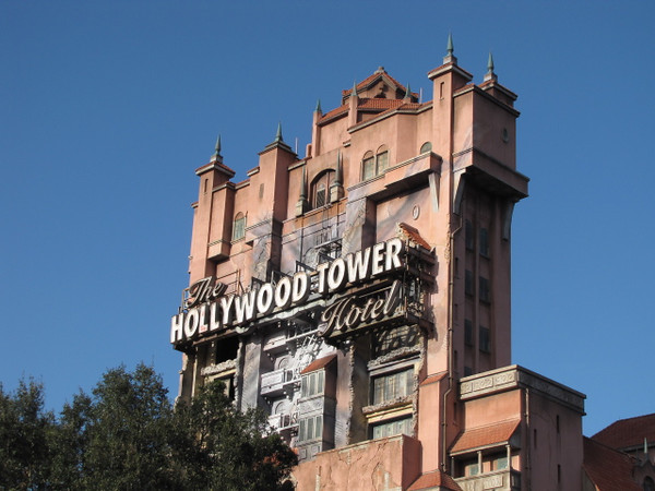 "And of course, they talked us into ""dropping in"" to the Hollywood Tower of Terror too! :-)"
