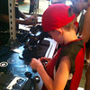 "And there's Richard building his own Custom remote control car at ""Ridemakerz"" in Downtown Disney... cool... Shawn wishes they had this when he was growing up! :-)"
