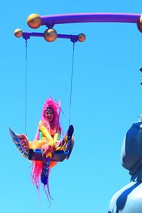 Acrobatics in the Festival of Fantasy Parade