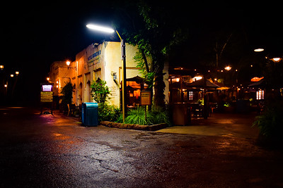 NIghttime Streetscape in Harambe, Animal Kingdom