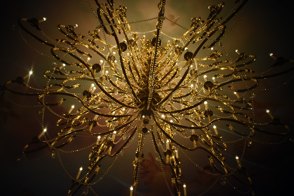 Chandelier in the Be Our Guest Restaurant