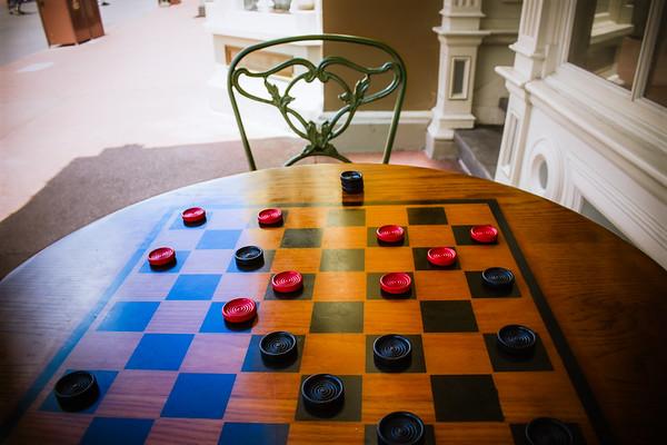 Checkers on Main Street USA